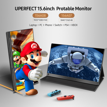 """UPERFECT 4K/1080P 15.6"""" USB TypeC IPS Screen Portable Monitor For Ps4 Switch Xbox Huawei Xiaomi Phone Gaming  Laptop LCD Display 2"""