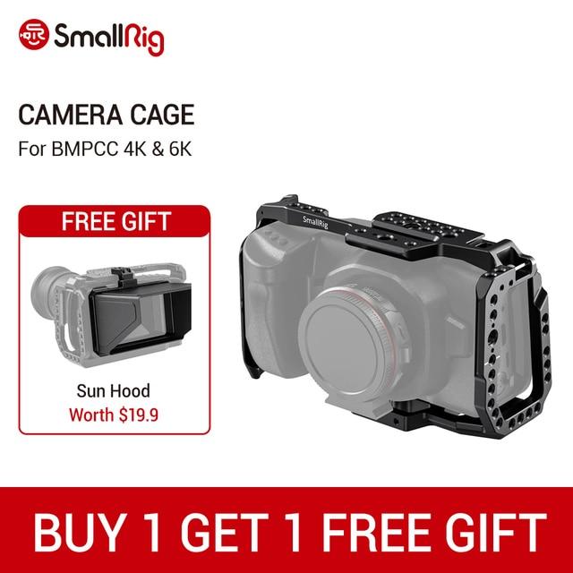 SmallRig BMPCC 4K 6K jaula de cámara para Blackmagic diseño cámara de cine de bolsillo forma jaula de ajuste + Nato Rail Could Shoe Mount  2203