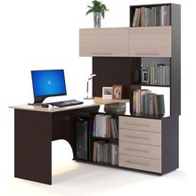 Computer desk FALCON КСТ-14П Wenge/bleached oak