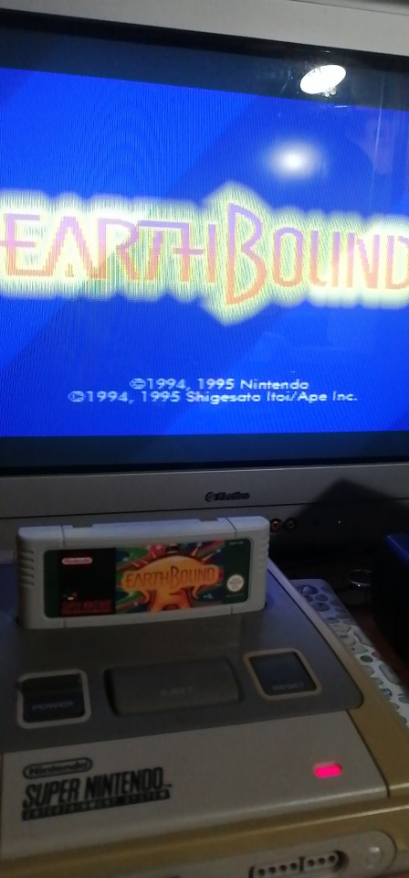Earthbound with box 16bit game cartidge EU Version for pal console photo review