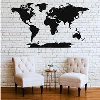 Metal Wall Art, Metal World Map Continents 5 Pieces, Metal Wall Decor, Home Living Room Decoration, Metal Sign, Wall Silhouette