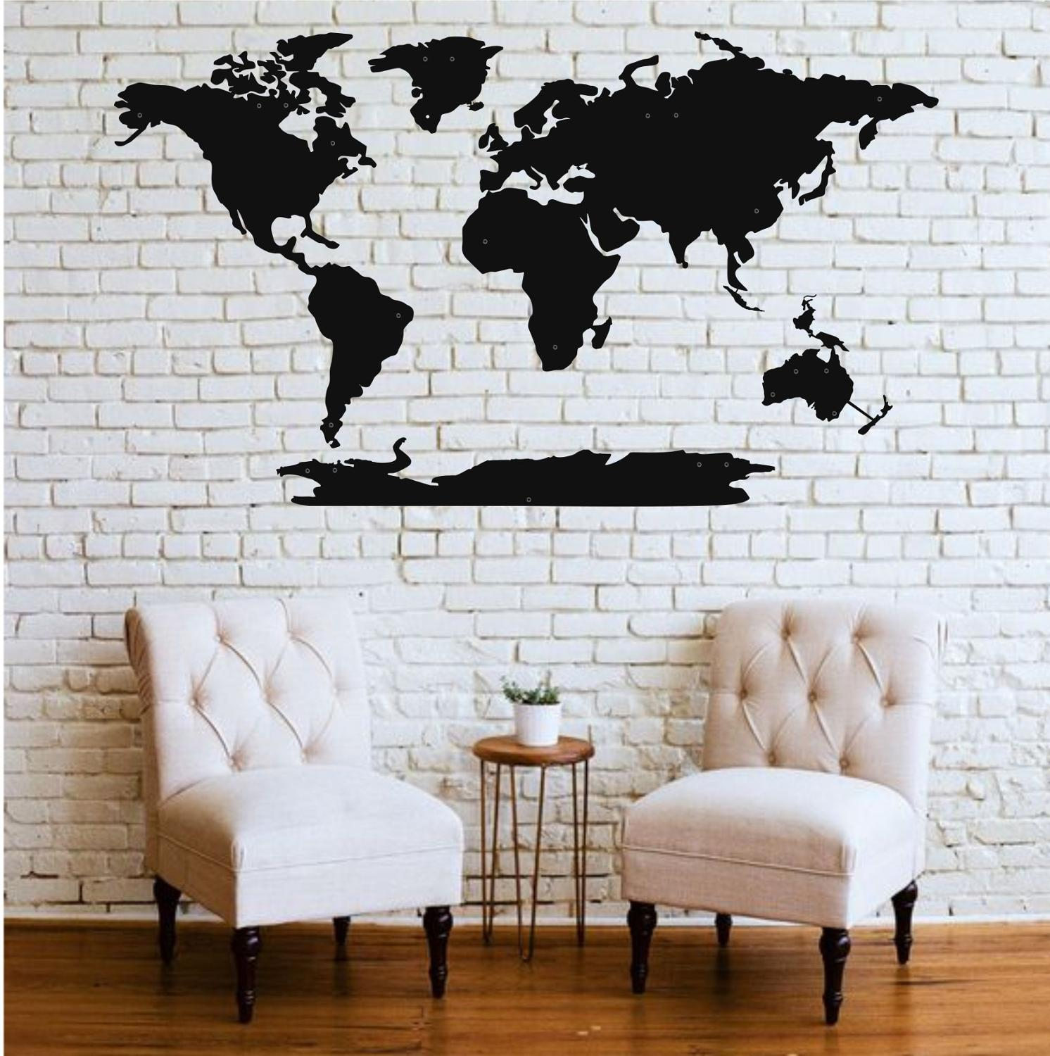 Metal Wall Art Metal World Map Continents 5 Pieces Metal Wall Decor Home Living Room Decoration Metal Sign Wall Silhouette Plaques Signs Aliexpress