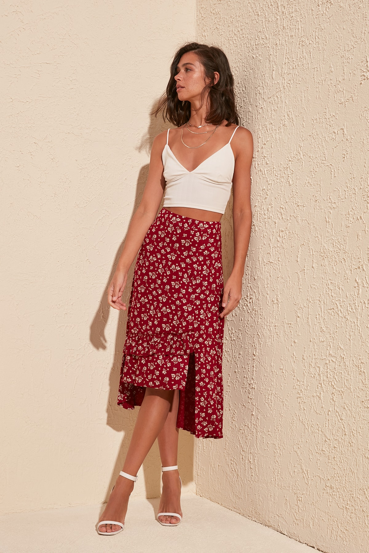 Trendyol Patterned Skirt TWOSS20ET0341