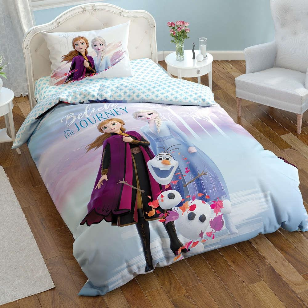 100% Cotton Licensed Disney Frozen 2 Duvet Cover Bedding Duvet Cover Set  For Kids Children Toddler , Boy Or Girl