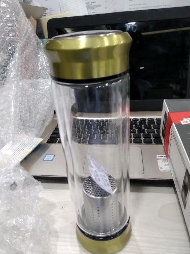 Glass Water Bottle With Loose Leaf Tea Strainer Tea Infuser Double wall Glass Bottle Free to disassemble Thermos 300ML 400ML|glass water bottle|water bottle|bottle with - AliExpress