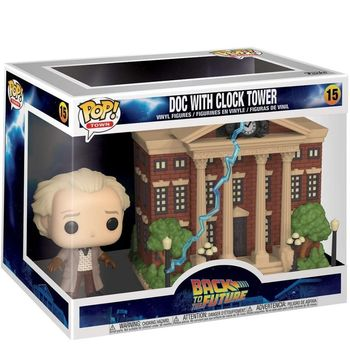 Doctor Emmett Brown, return to the future, Funko Pop, clock tower, original, collectible figures, decorative toy 1