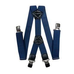 Подтяжки для брюк большого размера (4 см, 4 клипсы, Серо-синий) 55122