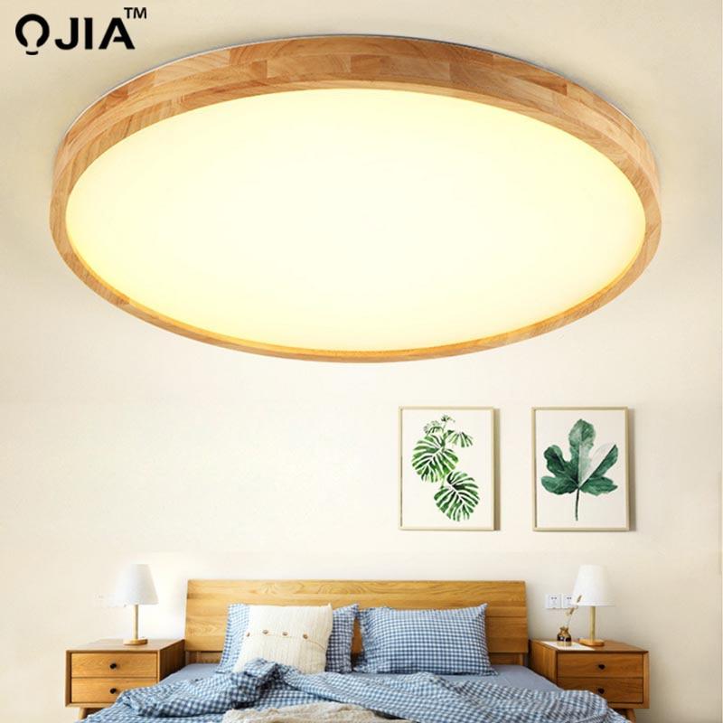 Plafonniers en bois ultra-mince LED pour le salon lustres plafonnier pour le plafonnier moderne haut 6cm