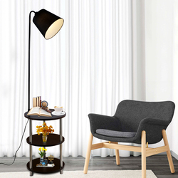 Nordic z litego drewna nowoczesne 220V360 stopni obracanie wypoczynek mały stół lampa podłogowa stolik kawowy led salon sypialnia lampa willa