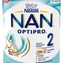 NAN OPTIPRO 2 NESTLE powdered milk. MILK CONTINUITY FROM 6 MONTHS. WEIGHT 800GR. With DHA and no palm oil