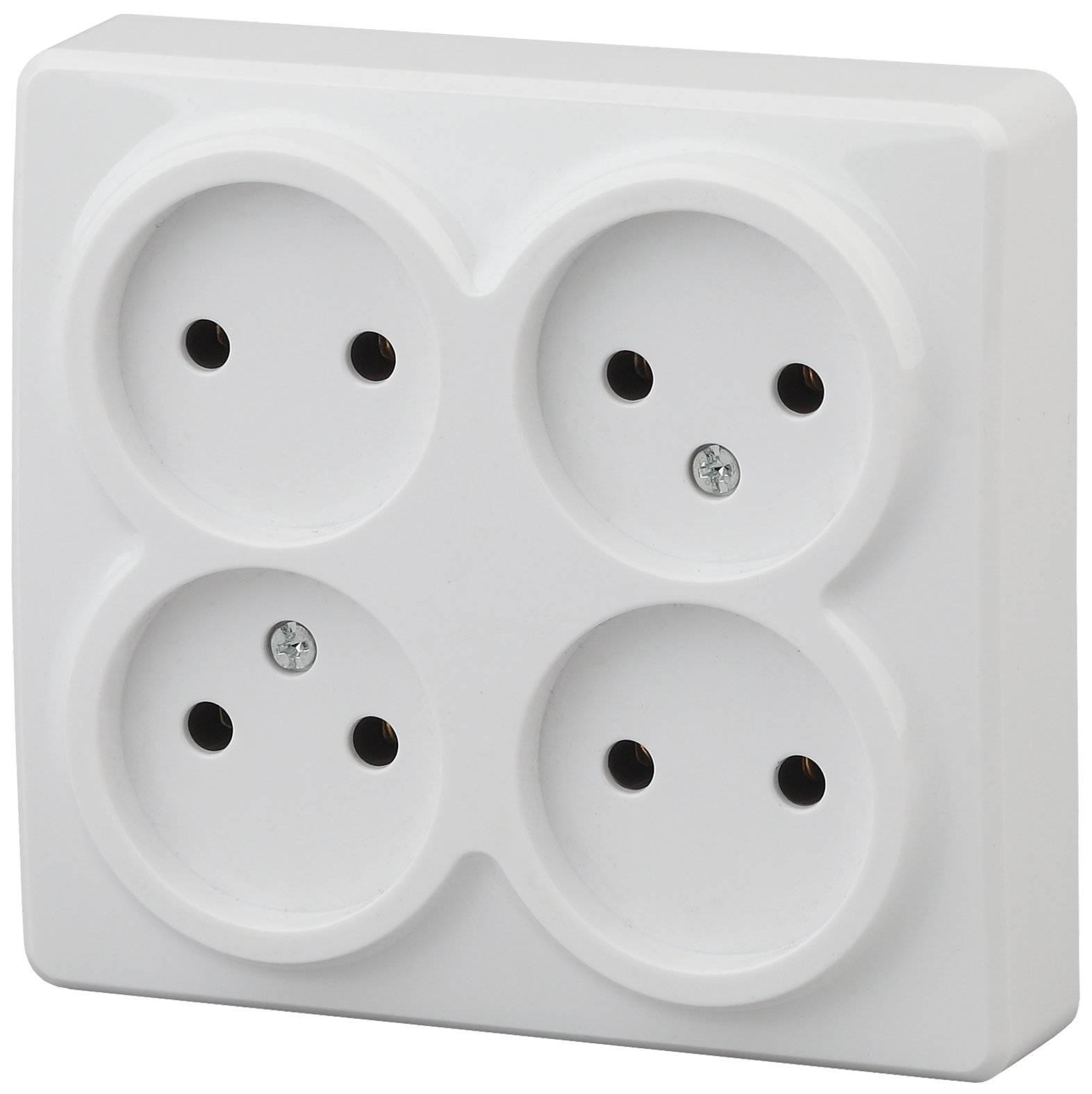 11-2210-01 Era Socket 4 H2P, 16ах-250в, Oh, Era Expert, White (12/120/1920) 5055945551495