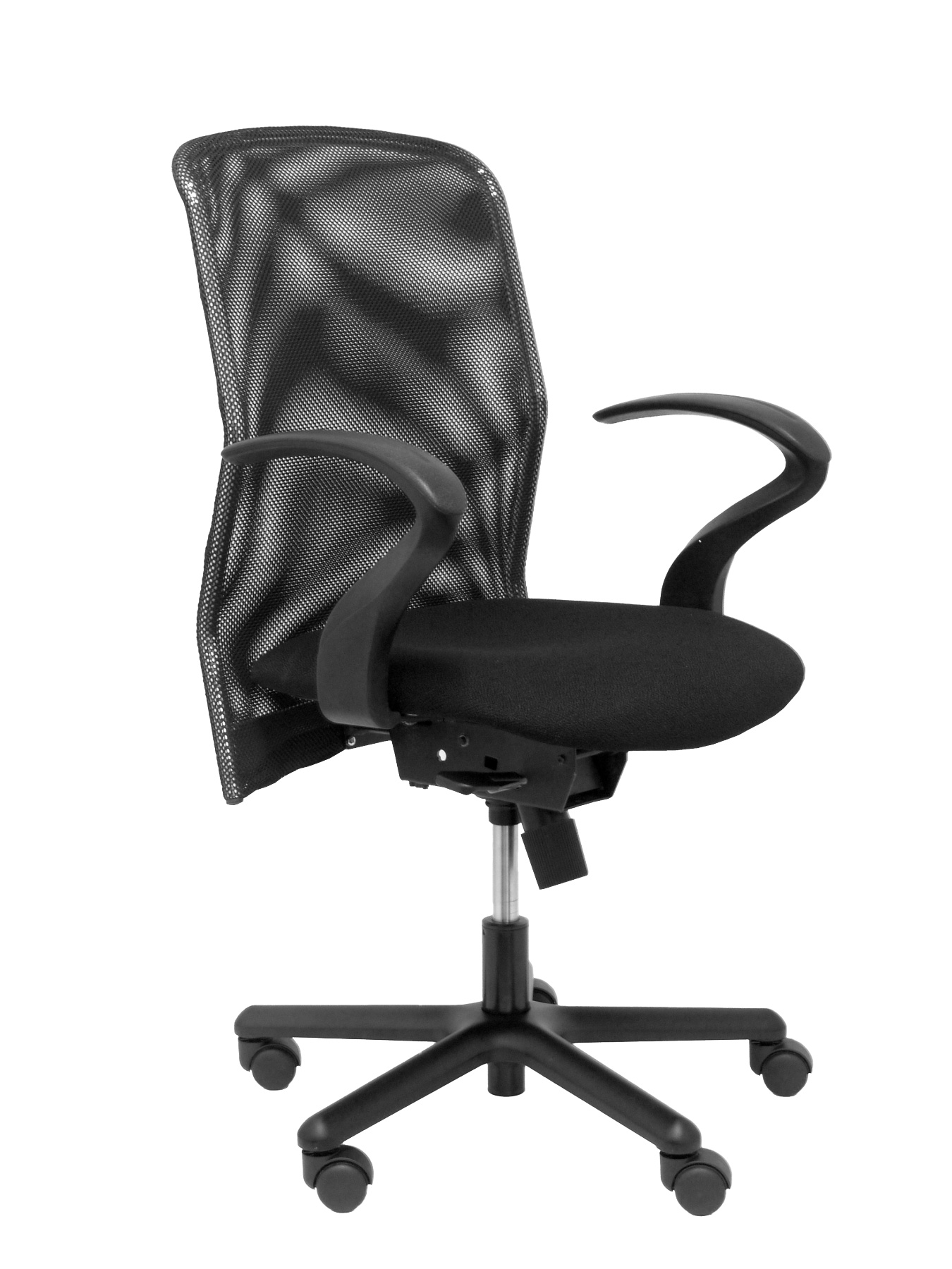 Ergonomic Office Chair With Mechanism Synchro, Fixed Arms And Adjustable In Height-breathable Mesh Backrest