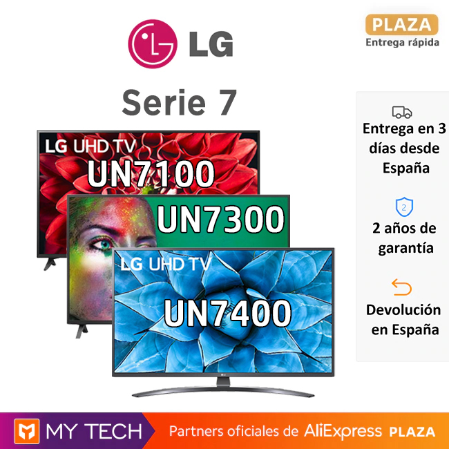 "LG Series 7, UN7100, UN7400 and UN7300 (with Magic Control), Smart TV 4K, 43, 49, 50 ""and 55""|Smart TV|   - AliExpress"