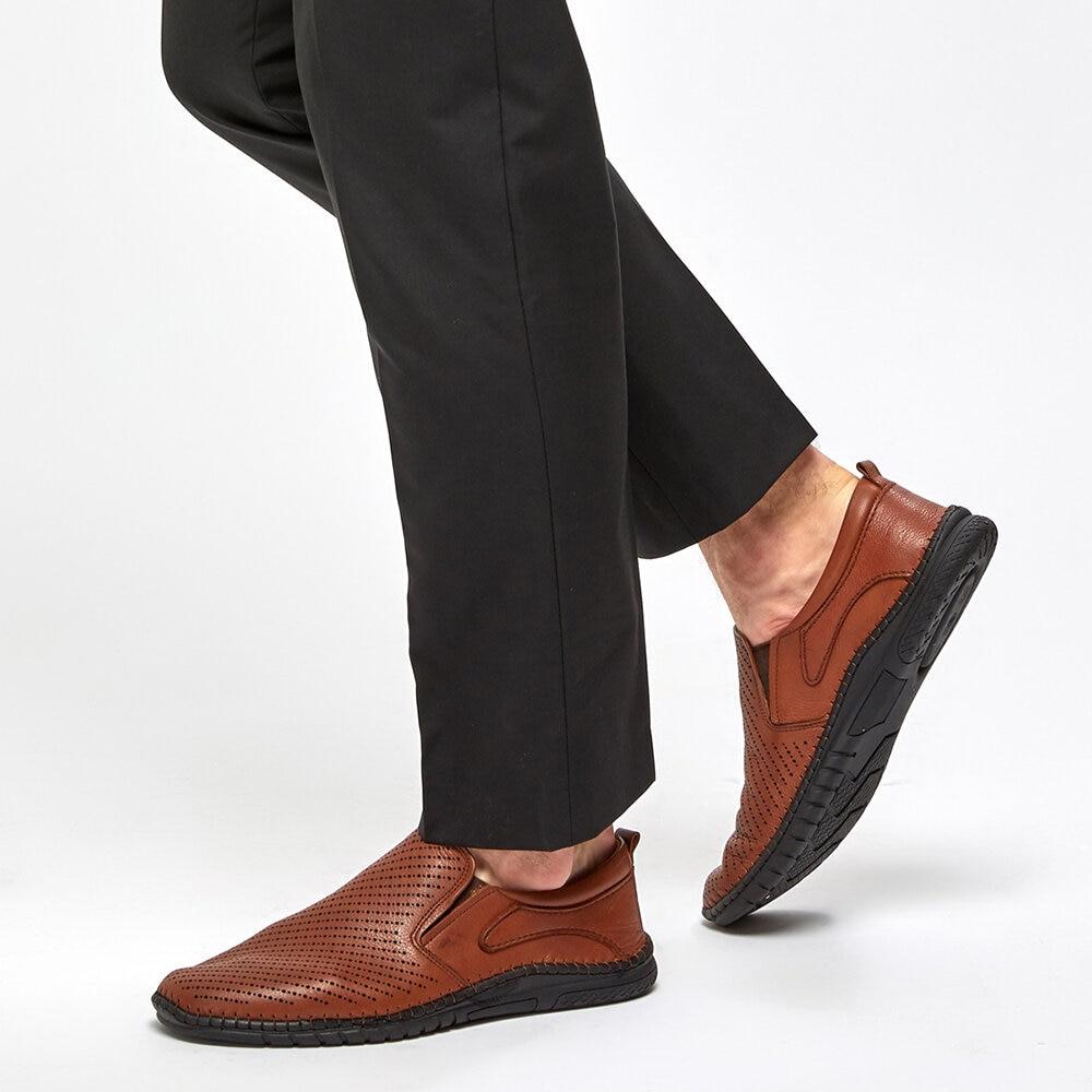 FLO 91.100543.M Tan Comfort Shoes Polaris 5 Point
