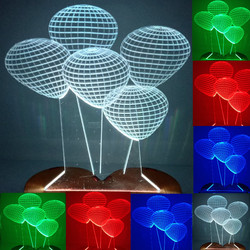 N-078 5 beads-3D USB led Eco-friendly lamp night light, hand, table night light, home decor,