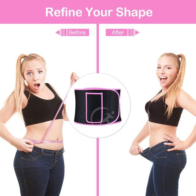 Outtobe Sweat Belt Waist Trimmer Belt Waistband Sports Waist Belt Fitness Belt Sweating Body Abdomen Adjustable Intensive 2