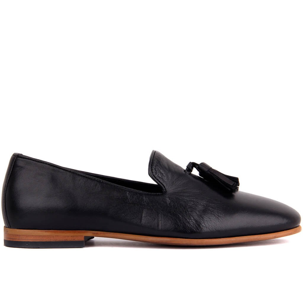 Sail-Lakers Genuine Leather Men Loafers, Black Men 'S Shoes, Casual Leather Male Shoes