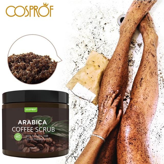 Cosprof Coffee Scrub Body Scrub Cream Facial Dead Sea Salt For Exfoliating Whitening Moisturizing Anti Cellulite Treatment Acne