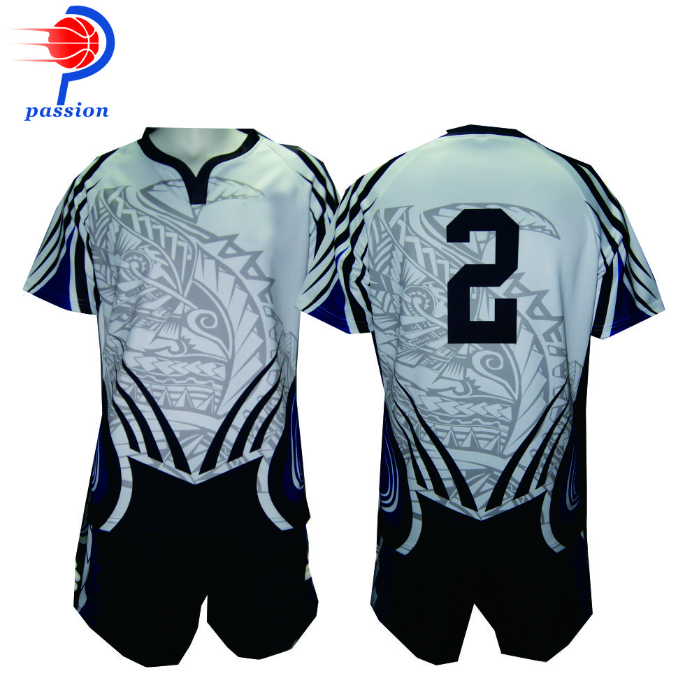 Factory Price Sublimated Custom Team Club Rugby Jersey And Short