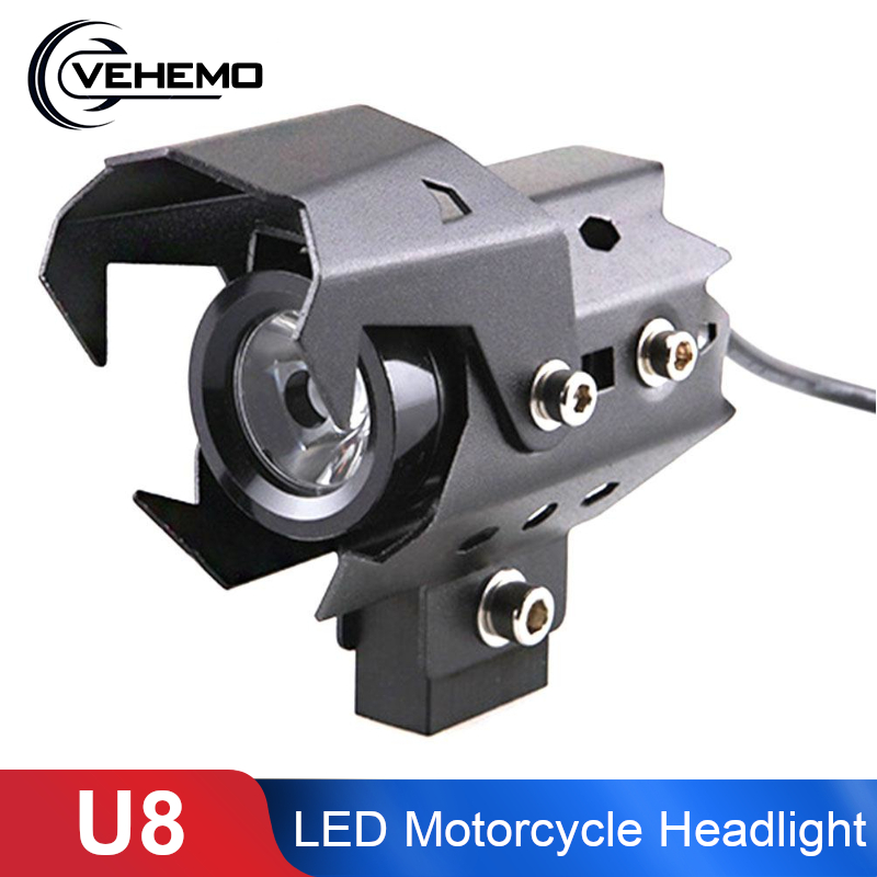 Vehemo U8 Motorcycle LED Headlight Moto Waterproof HeadLamp Fog Light Motorcycle LED Headlight Focos Moto LED Spotlight Bulbs