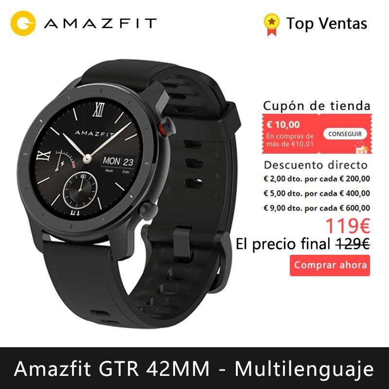 Xiaomi Huami Amazfit GTR 42 мм Смарт часы (bluetooth Смарт часы gps керамический ободок кольцо Спорт android IOS) [глобальная версия]