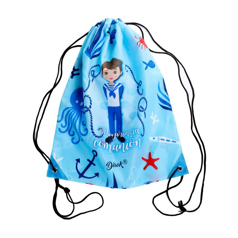 DRY BAG BACKPACK MY FIRST COMMUNION NIÑO-detalles And Gifts For Weddings, Christening Memories And Fellowship For Guests