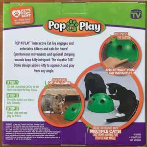 Image 3 - POP N PLAY Cat Toy Funny Cat Toy Cat Scratching Device Cat Scratching Post Toy Material for Cat Sharpen Claw pop play cat toy
