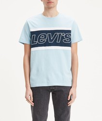 T-shirt Levis®Color block pullover T full color blue lights short sleeve BRANDED for men Clothing male
