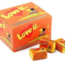 LOVE IS BUBBLE CHEWING GUM PINEAPPLE ORANGE VALENTINE GIFT BIRTHDAY COMICS Best FREE SHİPPİNG