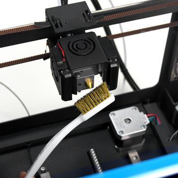 Narzędzie do czyszczenia drukarki 3D drut miedziany szczoteczka miedziany uchwyt pędzla do bloku dyszy Hotend czyszczenie części do czyszczenia gorącego łóżka tanie i dobre opinie TWO TREES CN (pochodzenie) Części sprzętu Części do maszyn Cleaner Tool Copper Wire MK8 nozzle Volcano nozzle 3D Printer nozzle