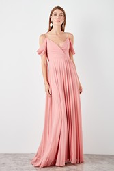 Trendyol Piliseli Evening Dress TPRSS19BB0426