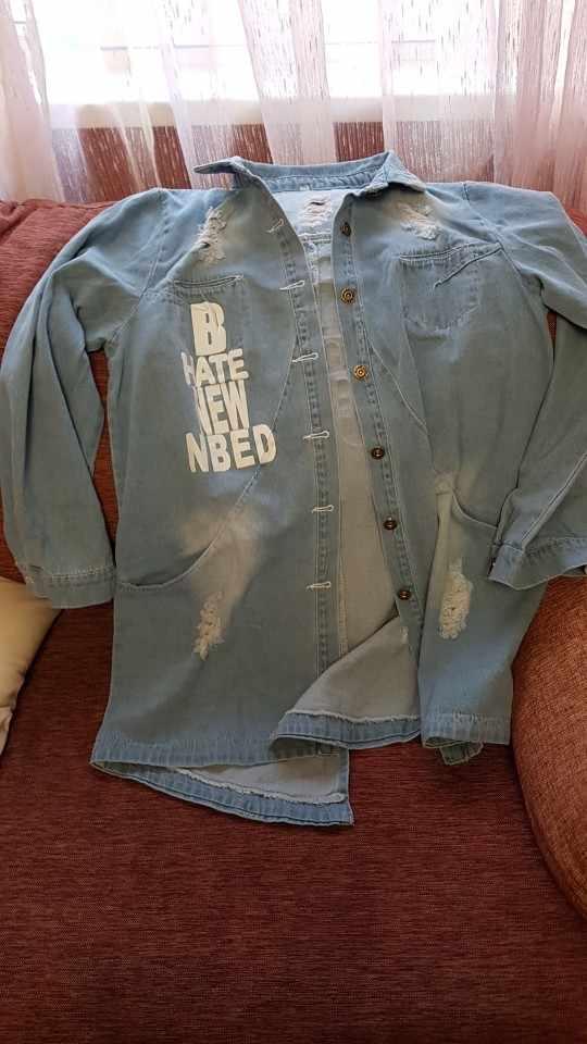 Где купить Женские джинсовые куртки, Женская Весенняя джинсовая куртка с отложным воротником, Повседневная джинсовая куртка с длинным рукавом, женская джинсовая куртка, верхняя одежда, большие размеры 8XL