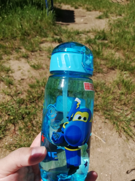 Children's Water Cup Plastic straw cup Anti fall kettle BPA Free Convenient Food contact material Cartoon cup Lovely Super Wings|Water Bottles|   - AliExpress
