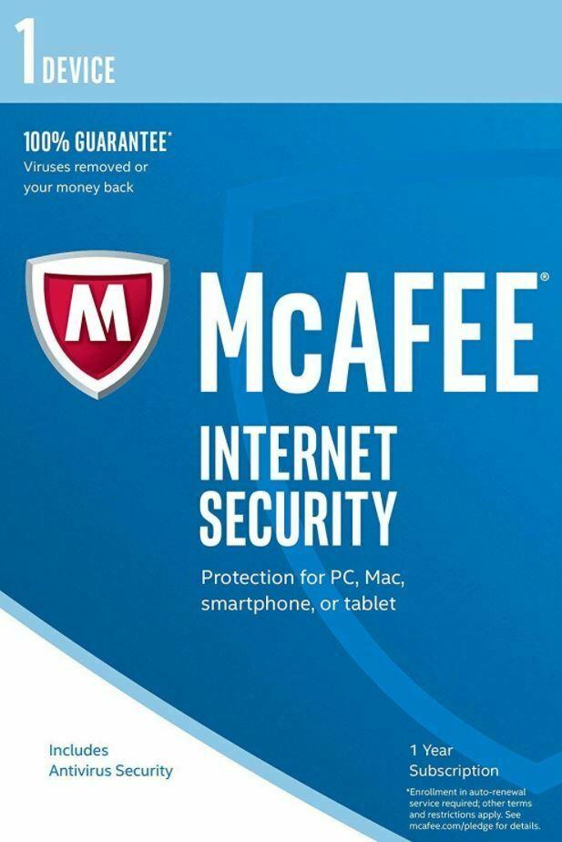 McAfee Total Protection 2020 антивирусное программное обеспечение 1 год 1 пользователь по электронной почте