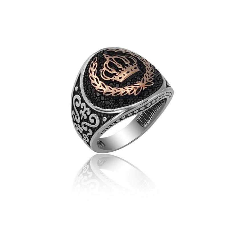 925 Silver Crown Ring for Men English Men Rings