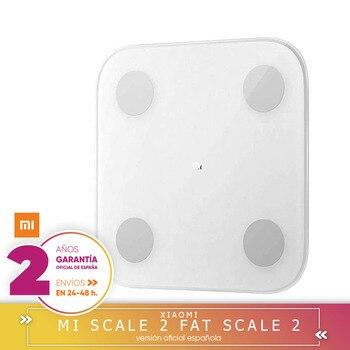 -Praça Garantía-Xiao mi mi 2 Inteligente gordura Corporal Escala Balanças 2 Inteligente Bluetooth Bioimpedancia Medidar B mi, app mi Fit