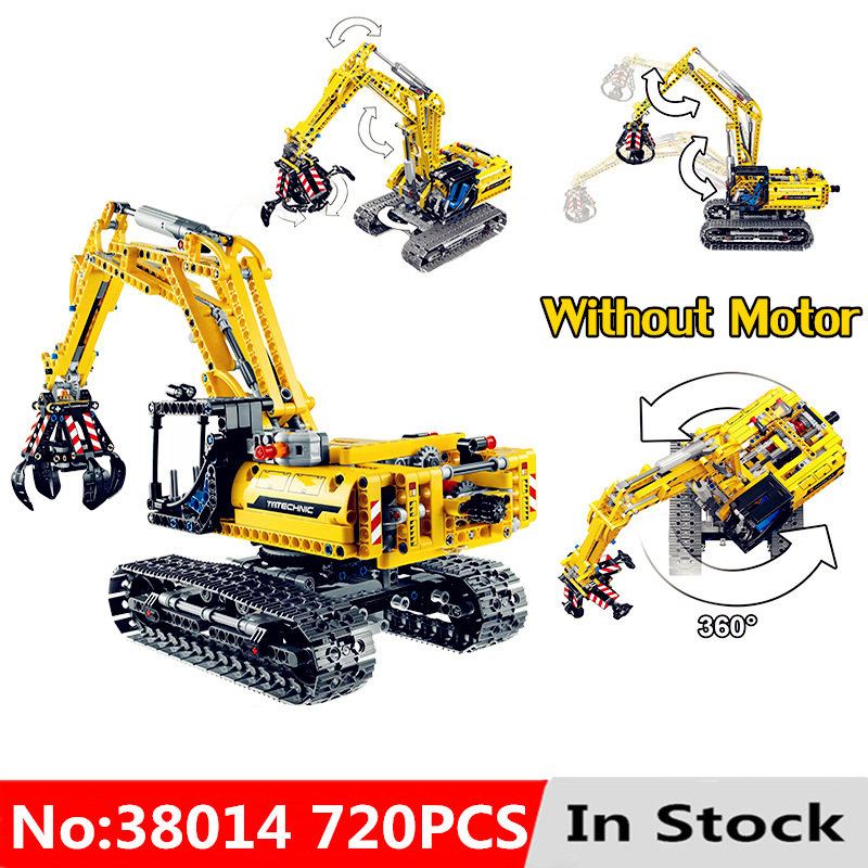 Excavator Car 720pcs Compatible With <font><b>LegoINGlys</b></font> Technic Block <font><b>42006</b></font> Truck Model Building Blocks Boys Birthday Gifts Toys For Boy image
