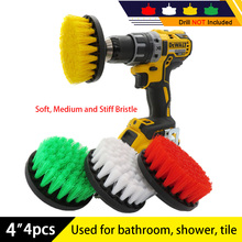 Drill-Kit Electric-Scrubber-Brush-Set Furniture-Cleaning-Kit Shower Wooden Bathroom Plastic