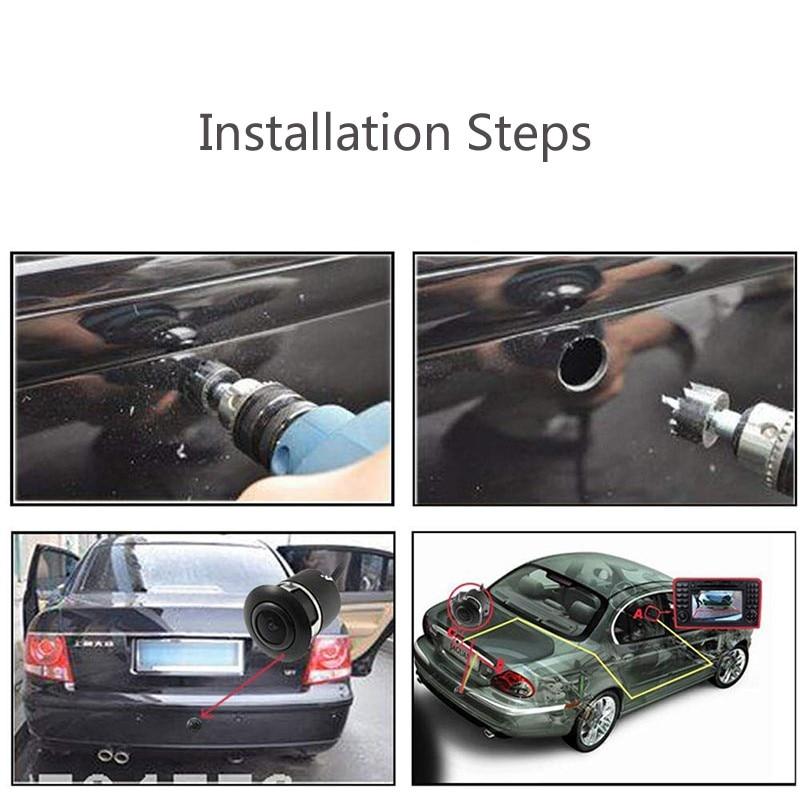 170 ° широкоугольная Автомобильная камера заднего вида HD ночного видения камера заднего вида резервная парковочная видеокамера высоко водонепроницаемый монитор заднего вида