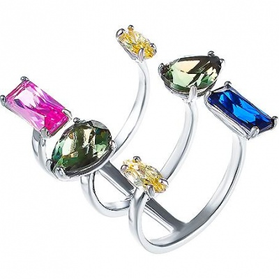 Jay VI Ring With Cubic Zirconia And Silver Spinel