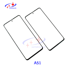 10pics A51 Front Glass With OCA For Samsung Galaxy a51Touch Screen Outer Lens LCD Cover Replacment Cellphone Repairing Materi