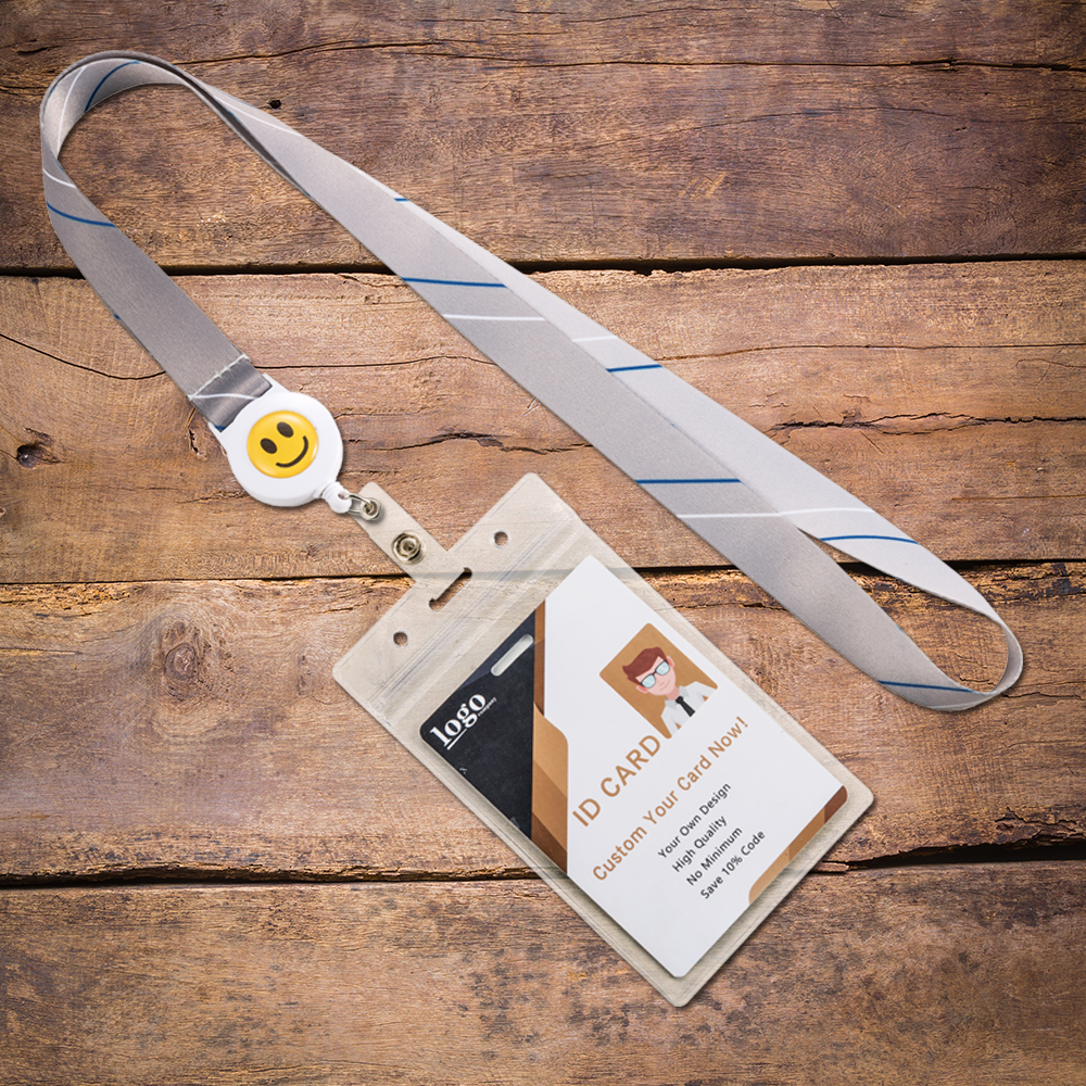 No MOQ Custom Cheap Price Off White Lanyard For Id Badge Neck Lanyards For Id Cards For Office And Corporate ID Badge Holder