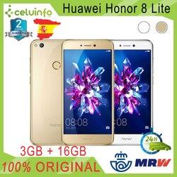 HuaWei Honor 8 Lite 16G + 3G RAM 5,2/13,21 см золотой белый отправленный 2 года Гарантийный сотрудник отправлен из Испании