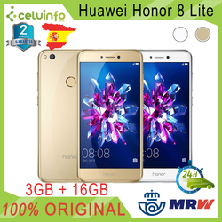 HuaWei Honor 8 Lite 16G + 3G RAM 5.2/13,21cm Gold White posted 2 Years Warranty officer Sent from Spain