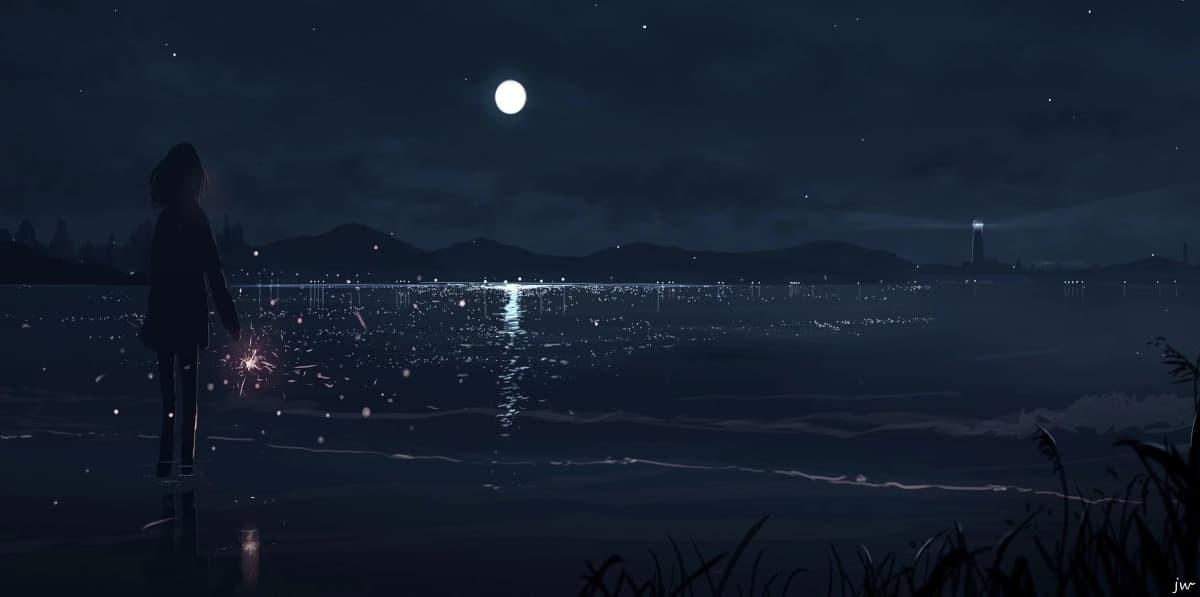 背影|月色