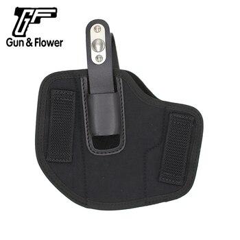Funda de pistola Universal táctica de pana de transporte para el exterior de la cintura de Gunflower, funda de nailon