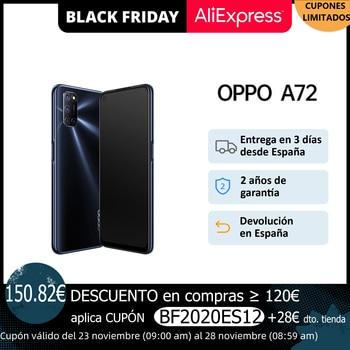 Перейти на Алиэкспресс и купить OPPO A72, объемом памяти 4 Гб/128 ГБ, смартфон, 6,5 дюймэкран, Двойные стереодинамики, 5000 мА/ч, батарея, ColorOS 7,1, 2 года гарантии