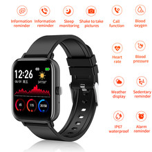 Smart Watch With Pressure Measurement Clock Electronic Sport Women Men's Watches Monitor Touch Screen Waterproof Smartwatch(China)