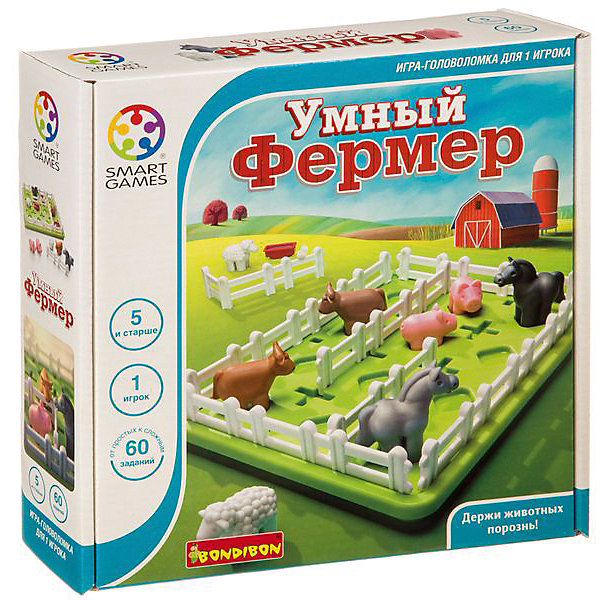 "Puzzle game Bondibon Smart farmer"""