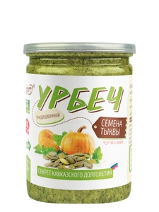 Natural paste from pumpkin seeds without sugar, without palm oil, Urbech TM #Spread_nut 230 gr, healthy food, food, vegan p